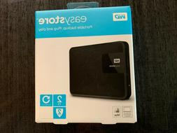 WD - easystore® 2TB External USB 3.0 Portable Hard Drive -