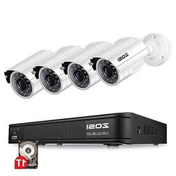 ZOSI 720p Security Camera System for Home, Security DVR 8 Ch