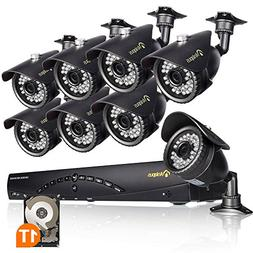 Anlapus 8Cams 720P Security Camera System, 8 CH 720P HD-TVI