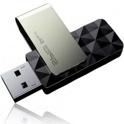 Silicon Power B30 64GB Blaze USB3.1 Flash Drive 2 Pack Swive