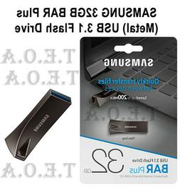 Samsung BAR Plus 32GB - 200MB/s USB 3.1 Flash Drive Titan Gr