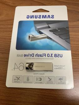 BRAND NEW - Samsung 64gb USB 3.0 Flash Drive Bar