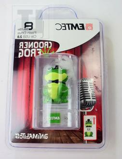 Emtec Classic USB 2.0 8GB USB Flash Drive Crooner Frog NEW