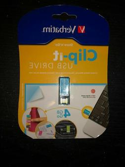 Verbatim Clip-it 4GB USB Drive- Free Shipping