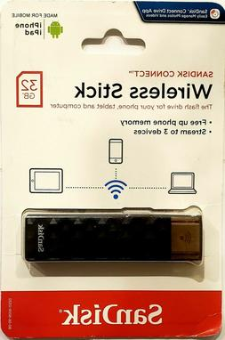 SANDISK Connect Wireless Stick 32GG Wireless Flash Drive for