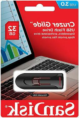 SanDisk 32GB Cruzer Glide USB 3.0 Retractable Flash Memory D