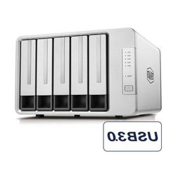 TerraMaster D5-300 USB3.0 Type-C 5-Bay HDD Enclosure Support