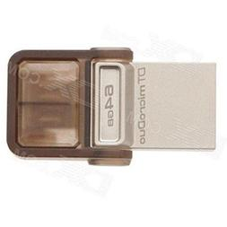 Kingston 64gb Datatraveler Microduo Usb 3.0 On-the-go Flash
