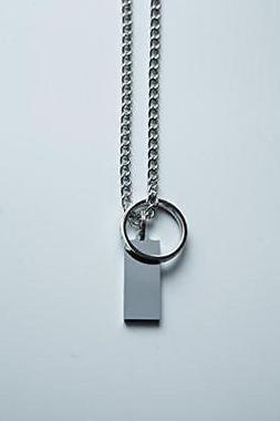 Jump Chain - Silver Drive Necklace - Wearable USB Drive