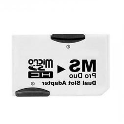 Chenyang Dual Slot MicroSD TF To MS Memory Stick Pro Duo Ada