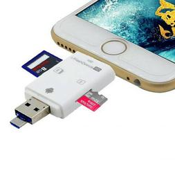 Dual USB Flash Drive SD TF Card Reader For iPhone 6 7 8 Plus