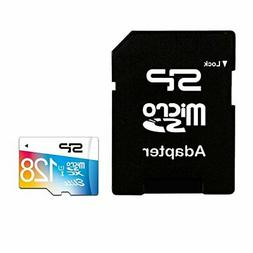 Silicon Power 128GB Elite micro SDXC UHS-1 Memory Card - wit