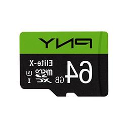 PNY Elite-X 64GB microSDXC Card with Adapter - UHS-I, U3 - u