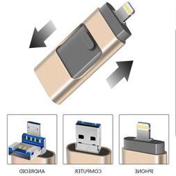 Encrypted USB 2.0 Flash Drive 3 in 1 OTG Memory Stick USB Di