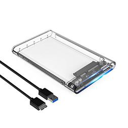 External Backup Hard Drive 2TB USB 3/2.0 Case Enclosure 2.5