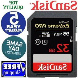 SanDisk Extreme Pro 32GB UHS-I SDHC Memory Card