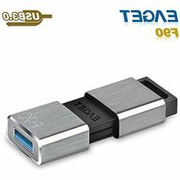 F90 USB 3.0 High Speed Capless Flash Drive,Water Resistant P