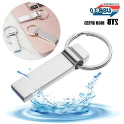 Flash Drive 2TB USB 3.0 Memory Stick Pendrive Disk Metal Key