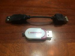 Flash drive with USB adaptor and carrying case