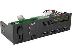 Rosewill 5.25 Inch Front Panel Card Reader USB 3.0 USB Hub a