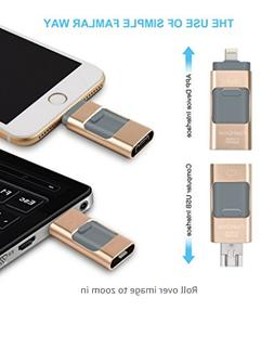 HM FIRE USB Flash Drives for iPhone 32 GB and Android Memory