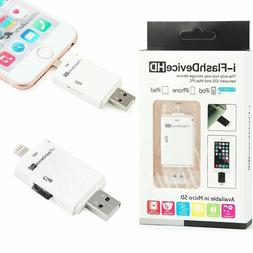 i-Flash Drive Adapter USB Micro SD TF Card Reader For iPhone