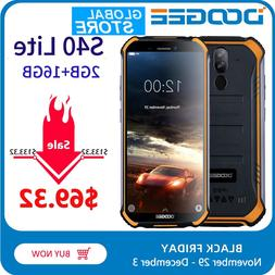 IP68 DOOGEE S40 Lite Rugged Phone Mobile Phone 5.5inch Displ