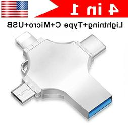 For iPhone Android OTG Type-C/Lightning/Micro USB Flash Thum