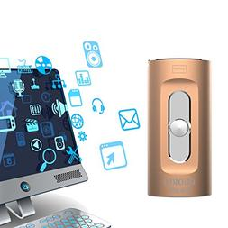 iPhone iPad Lightning Flash Drive 64 GB, GUORUI 3 in 1 USB 3
