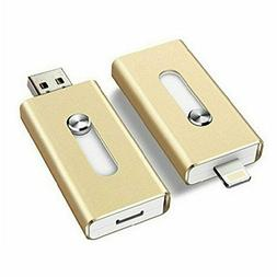 128GB iPhone USB Flash Drive, iOS Memory Stick, iPad Externa