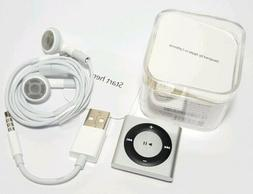 Apple iPod Shuffle 4th Generation 2GB Silver A1373 Voice Ove