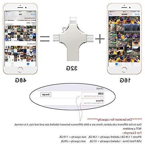4 USB Compatible X iOS Android iMac PC External with USB