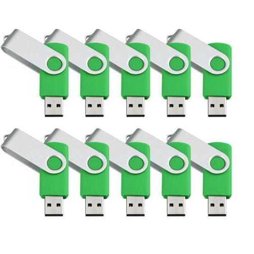 10X 8GB 2.0 Flash Pen Drive Memory Storage Green