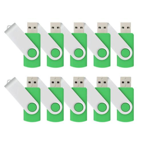 10X Flash Drives Thumb Pen Sticks Storage