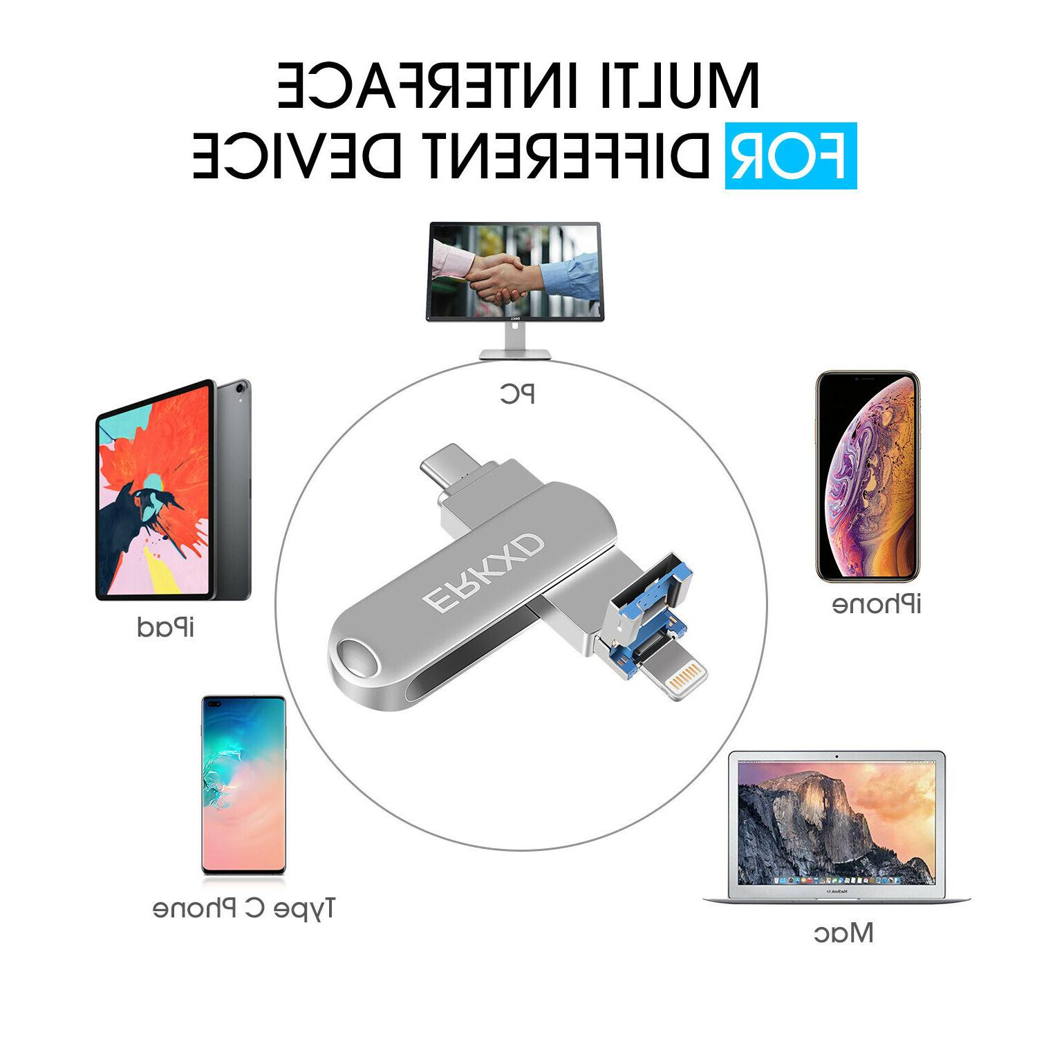 128GB Flash Memory Drive OTG Type pendrive for iPhone MAC PC