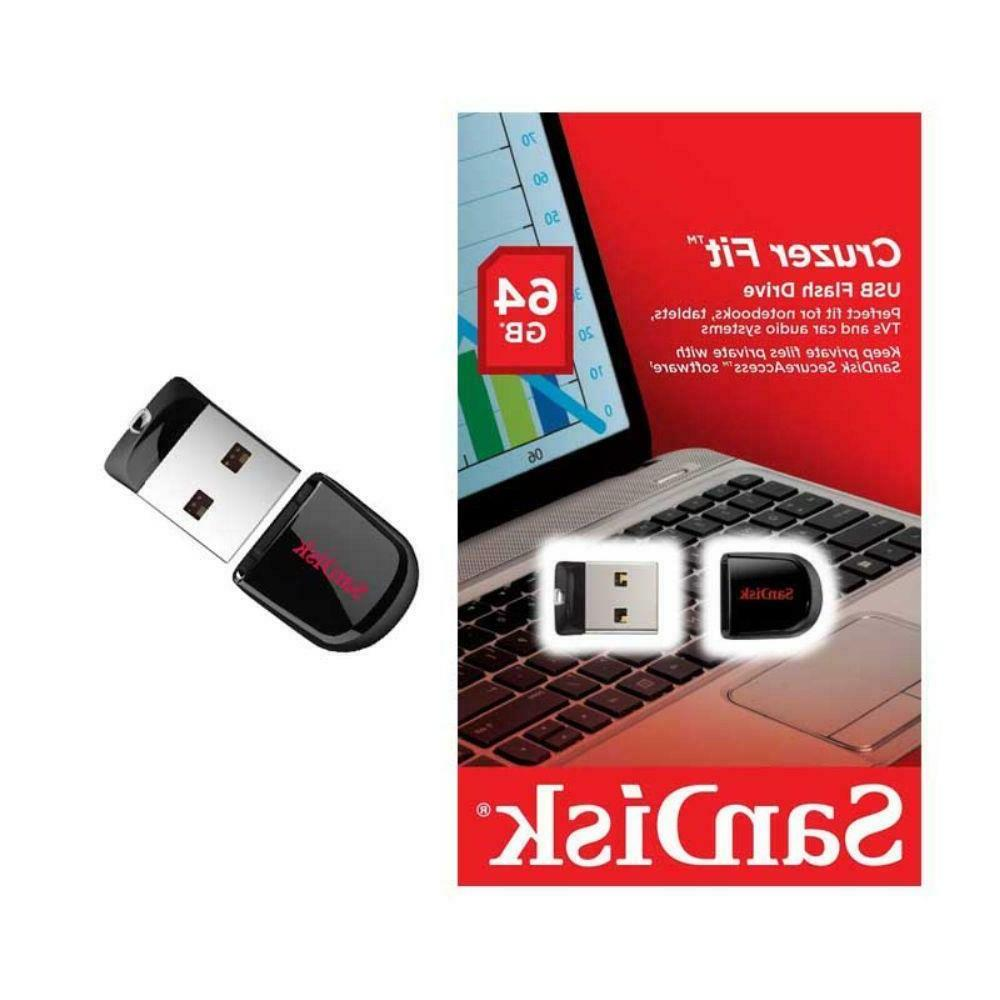 SanDisk 16 32 64GB CRUZER FIT Stick Flash Drive Small 3.0