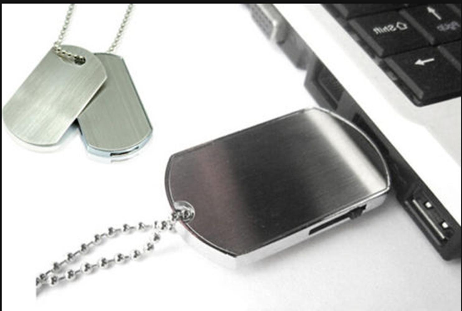 16/32GB Metal Tag Necklace Flash Gift