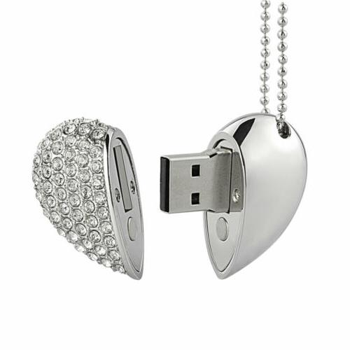 16GB Heart Shape USB Flash Memory Gift