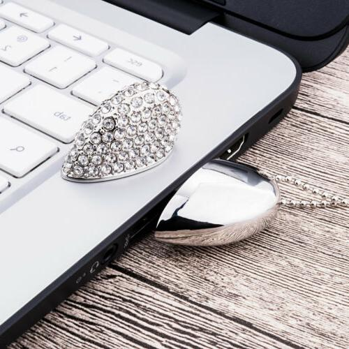 16GB Heart Crystal USB Drive Memory Gift