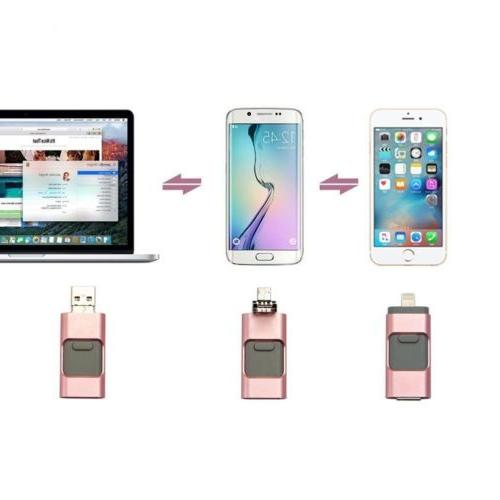 256GB Pink USB Stick Disk OTG