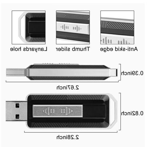 2X Slide-out USB 3.0 Drive Memory Storage US Stock