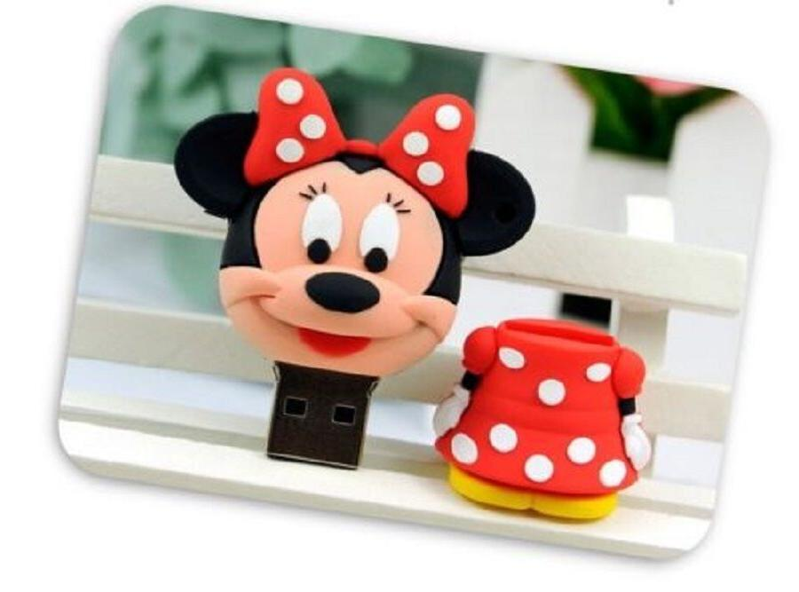 32GB- 64GB- Minnie Mouse USB 2.0 Flash Stick Drive Pen
