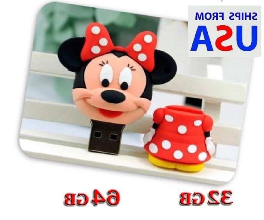 32gb 64gb cute red minnie mouse usb