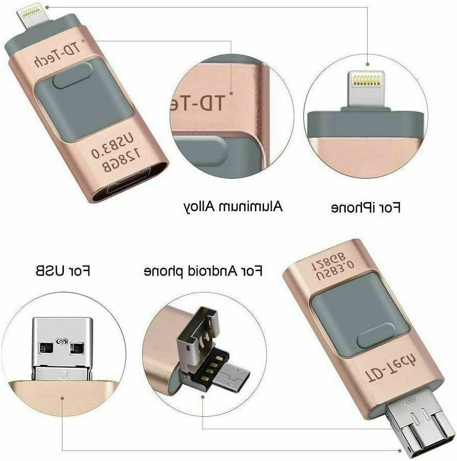 4 in 1 USB 3.0 256GB Photo All iPhone Android PC