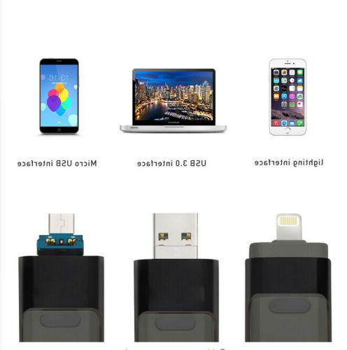 3in1 Drive Lightning External Storage Stick For