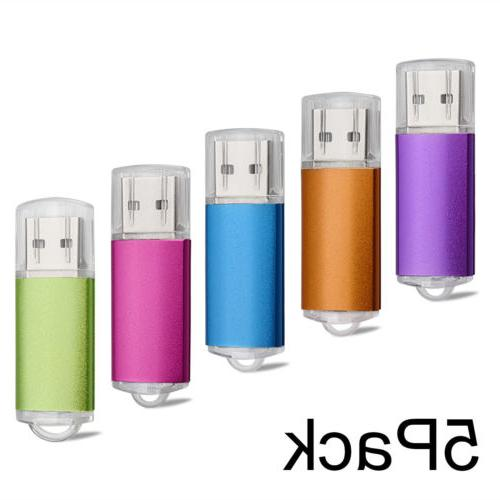 5 Pack 2GB USB 2.0 Pen Drives Flash Memory Stick Thumb USB S