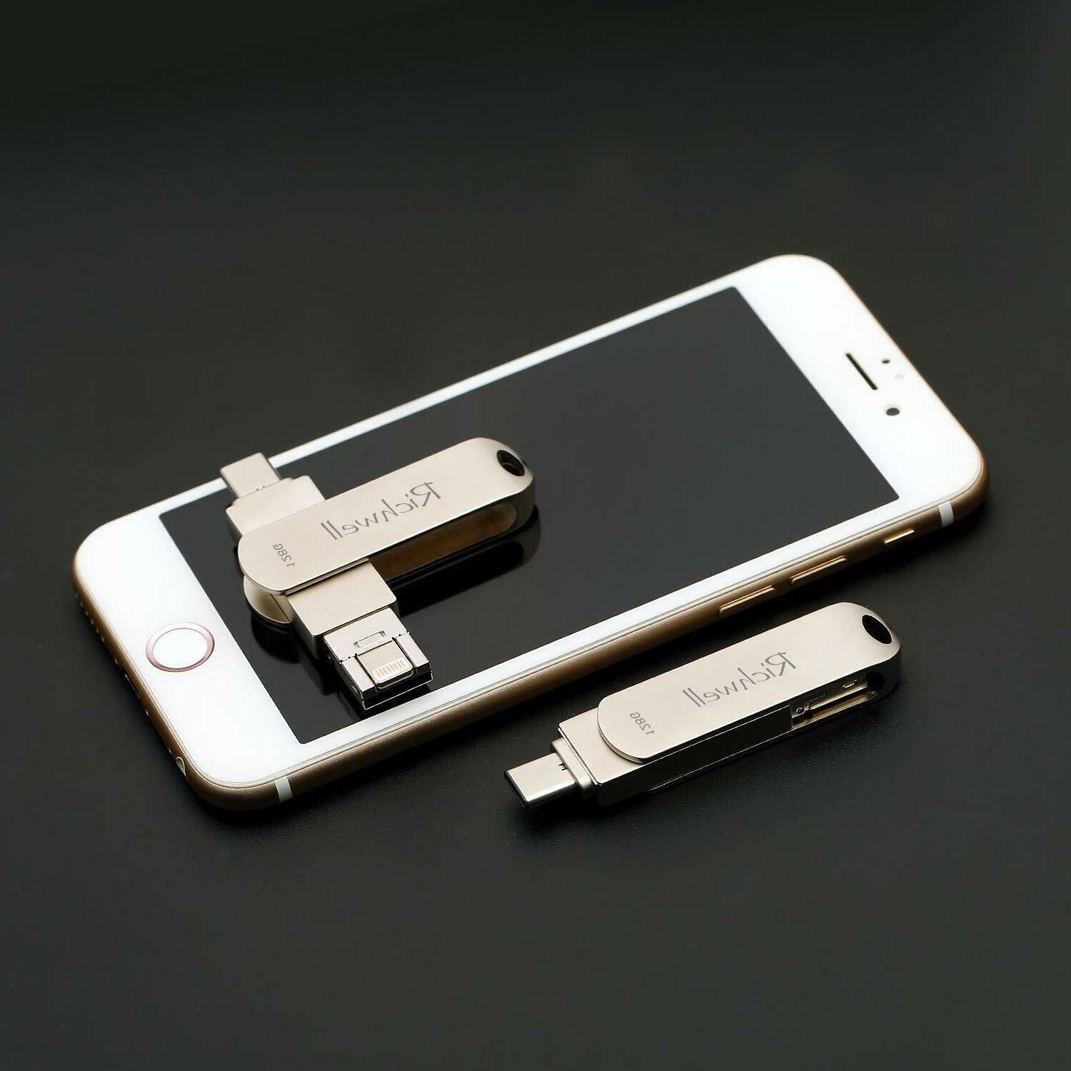 64GB/128GB 1 OTG 3.0 Drive for Android, USB PC