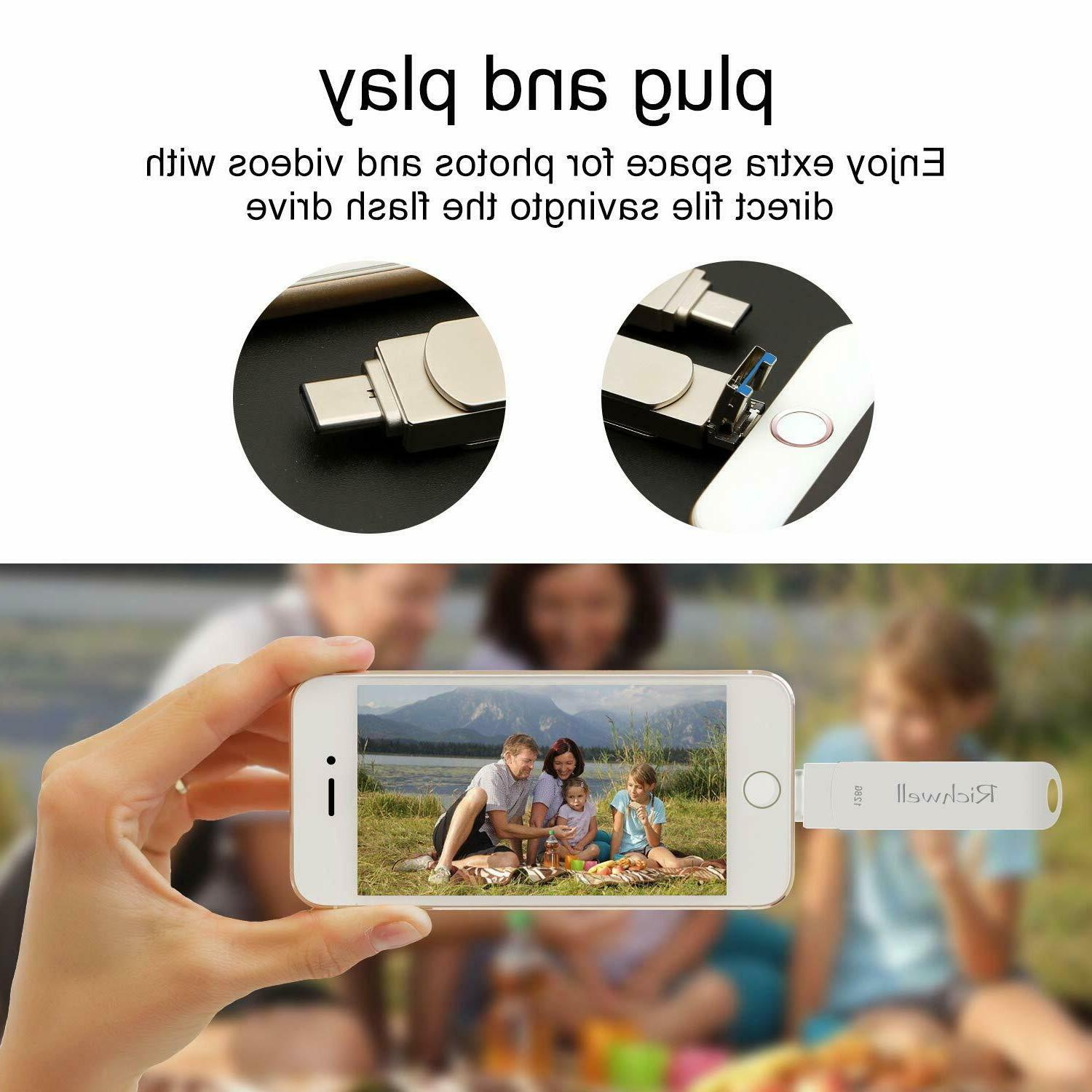 64GB/128GB 3 in OTG USB Drive for