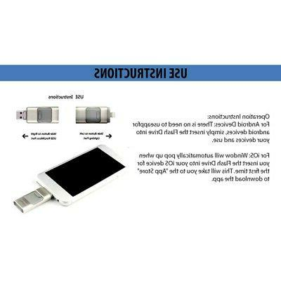 64GB USB Memory Disk 1 for IOS iPhone PC