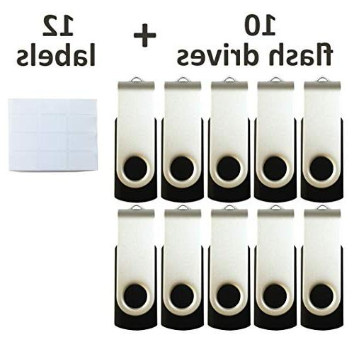 Enfain 16GB Flash Memory Stick Drive for Removable White Labels Cardboard